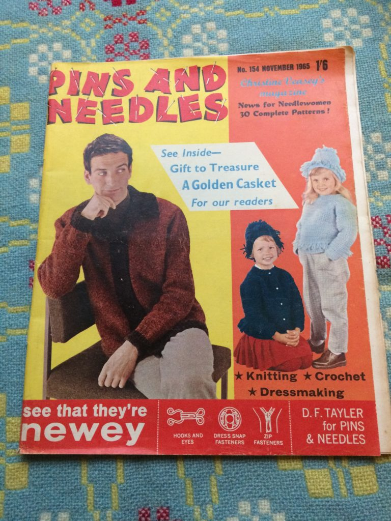 Cover of Pins and Needles vintage craft 1965 magazine no 154 November