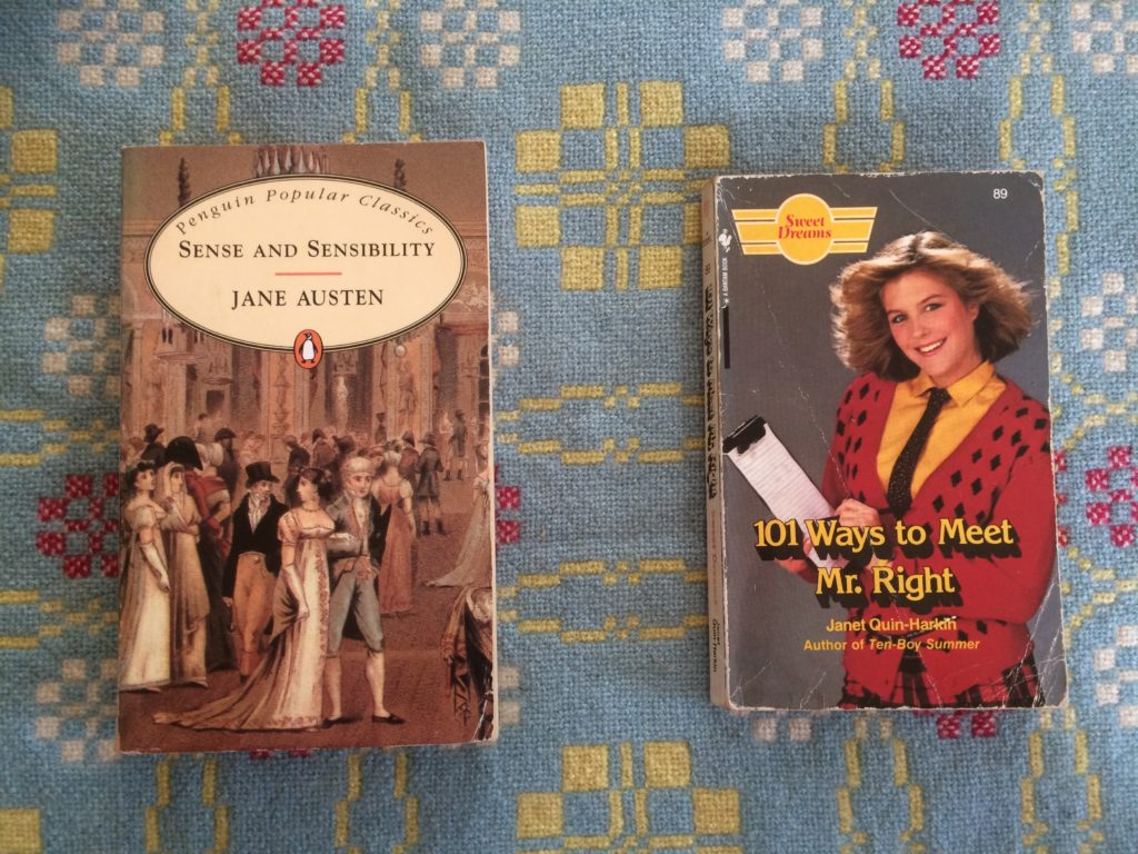 Two books - One by Jane Austen, One by Janet Quin-Harkin